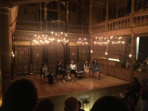 Jessica Bauman at The Globe Theatre